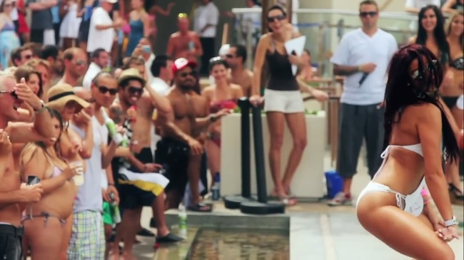 Vegas pool party sausage fest not many ladies