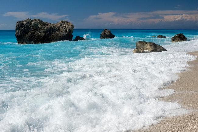 Kalamitsi beach, Lefkada island, Greece.