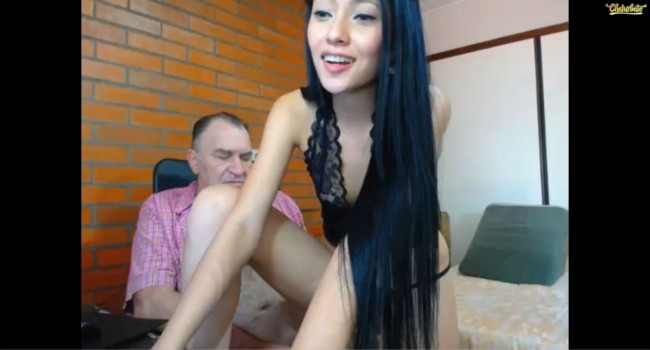 Old men having sex with Asian college girls