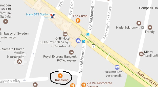 Best blowjob bar Bangkok Kasalong location map Soi 8