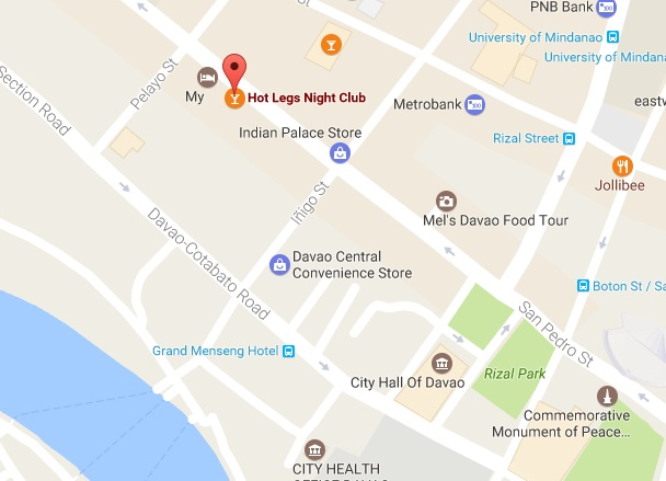 Red light map Davao City erotic sex massage spas for men
