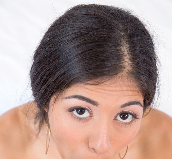 Ruby Reyes hot eyes giving blowjob