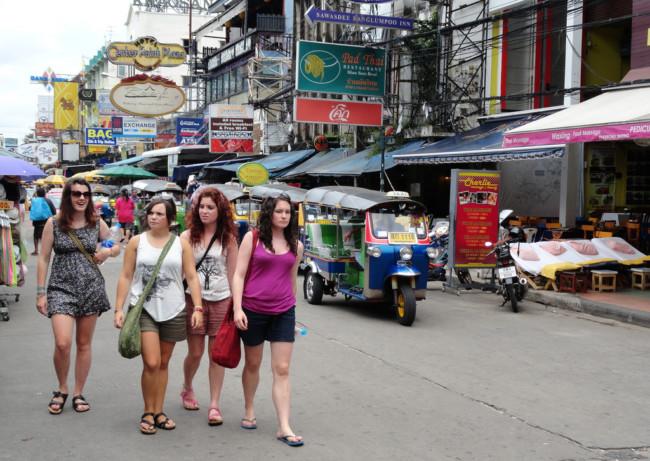 Nightlife sexy girls Khao San Road in Bangkok