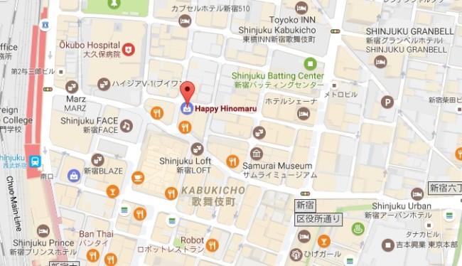 Review Happy Hinomaru Kabukicho location map prices girls