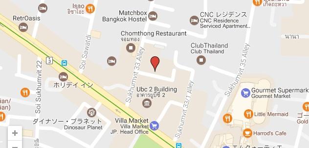 7th Heaven Sukhumvit 33 location map Bangkok oral sex