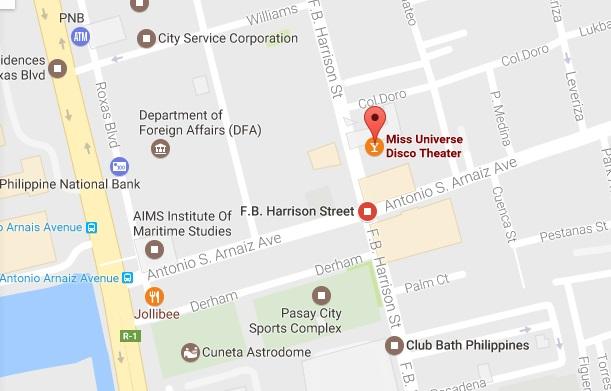 Universe KTV nude strip club Pasay Manila location map