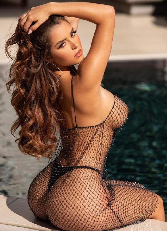 Hot British girl Instagram model Demi Rose tits